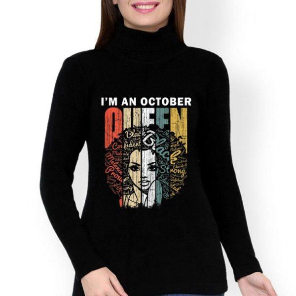 I'm An October Queen Black Woman Vintage shirt