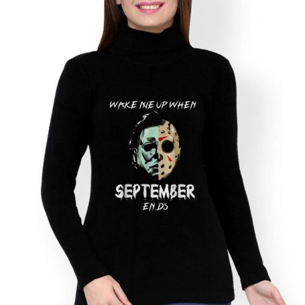 Michael Myers Jason Voorhees Wake Me Up When September Ends shirt