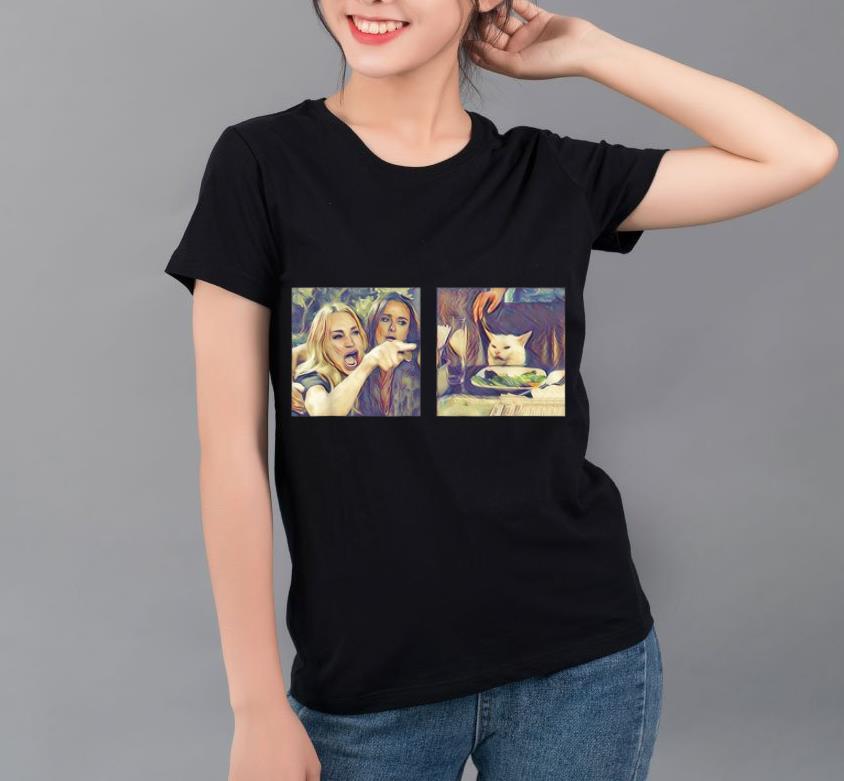 Mock4 - Woman Yelling At A Cat Meme shirt