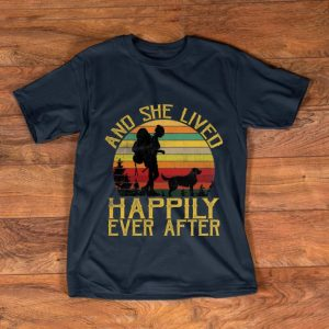 Official She Lived Happily Ever After Camping Dog Vintage shirt