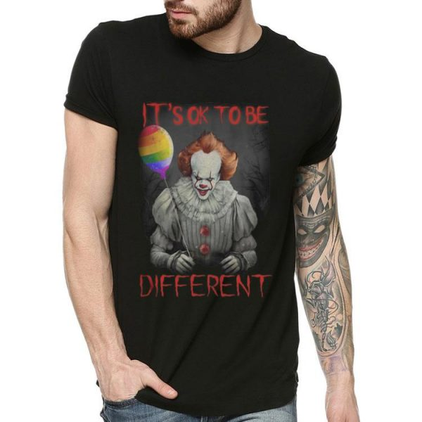 Pennywise ITs Ok To Be Different Rainbow Balloon shirt