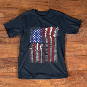 Pretty Guitar American Flag shirt
