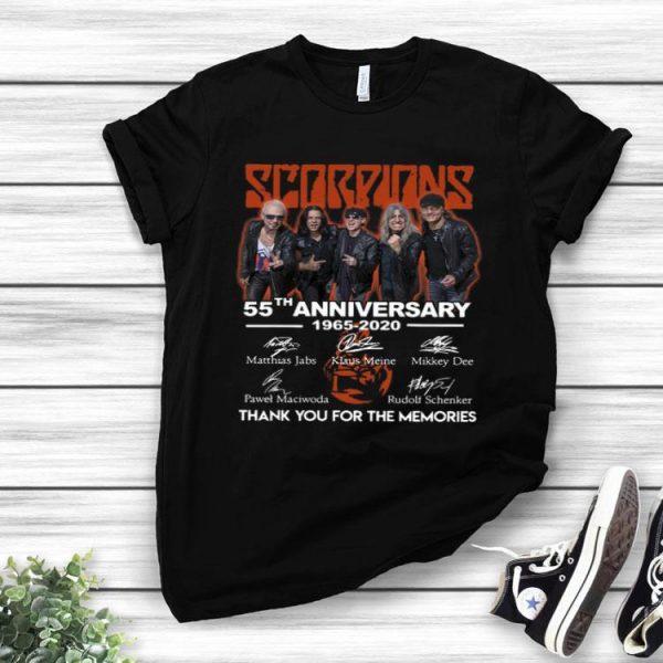 Scorpions 55th Anniversary 1965-2020 Signature shirt
