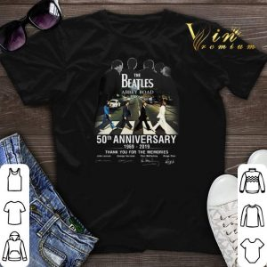 Signatures The Beatles Abbey Road 50th Anniversary 1969-2019 shirt