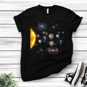 Solar System The Universe Space Geeks shirt