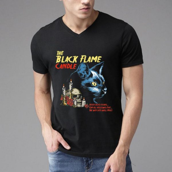 Vintage Halloween Black Flame Candle Cat After 300 Years shirt