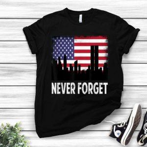 Vintage Never Forget Patriotic 911 American Flag shirt
