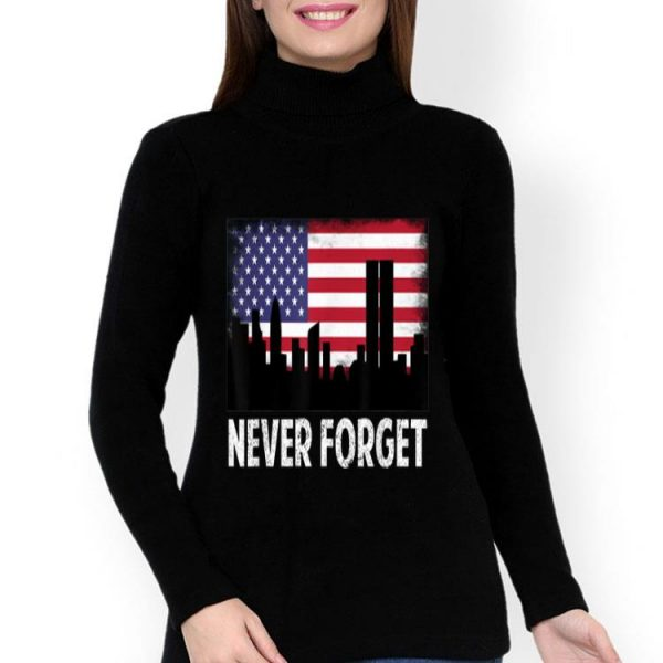 Vintage Never Forget Patriotic 911 American Flag shirt