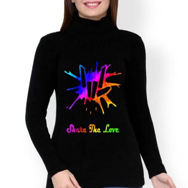 Water Color Share The Love Cute Fingers shirt