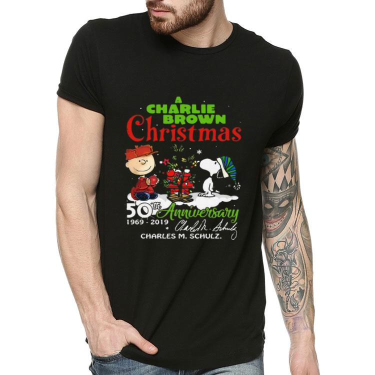 Charlie Brown Christmas 50th.A Charlie Brown Christmas 50th Anniversary Signature Shirt Hoodie Sweater Longsleeve T Shirt