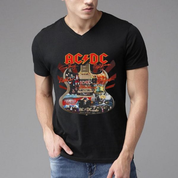 ACDC Signatures Guitar shirt