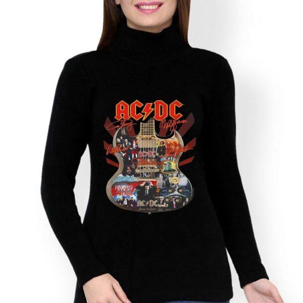 ACDC Signatures Guitar shirt