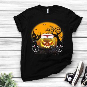 Black Cat Nurse Costume Halloween shirt