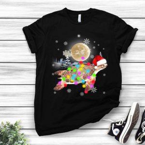 Christmas Light Sea Turtle Lover shirt