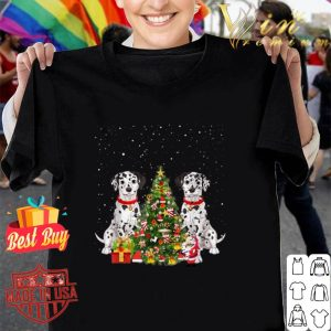Dalmatian Dogs Christmas tree gifts shirt