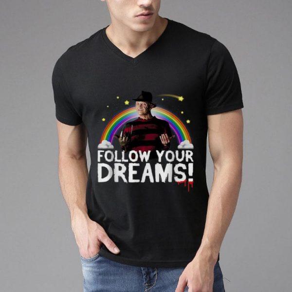 Freddy Krueger Follow Your Dreams Rainbow shirt