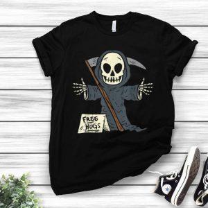 Free Hugs Grim Reaper Scary Funny Halloween Costume shirt