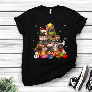 French Bulldog Christmas Tree Merry Xmas shirt