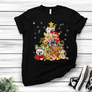 Frenchie Christmas Dog And Christmas Lovers shirt