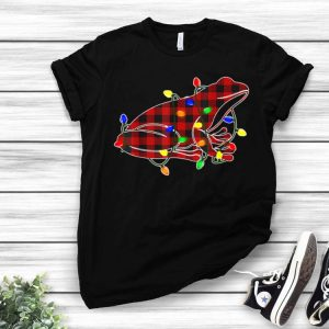 Frog Red Plaid Christmas Pajama Christmas Light shirt