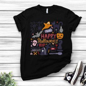 Happy Halloween Night Trick Or Treat Cat Pumpkin Witch Boo shirt