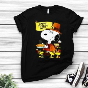 Happy Turkey Day Snoopy And Woodstock Thanksgiving Day shirt