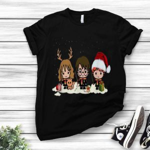 Harry Potter Chibi Harry Ron And Hermione Christmas shirt