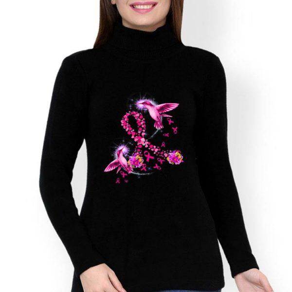 Hummingbird Flower Pink Ribbon Breast Cancer Awareness shirt