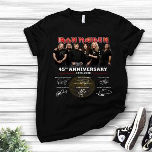 Iron Maiden Member 45th Anniversary 1975-2020 Signatures shirt
