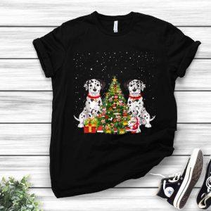 Merry Christmas Dalmatian Christmas Tree shirt