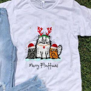 Merry Christmas Merry Fluffmas Cat Lover shirt