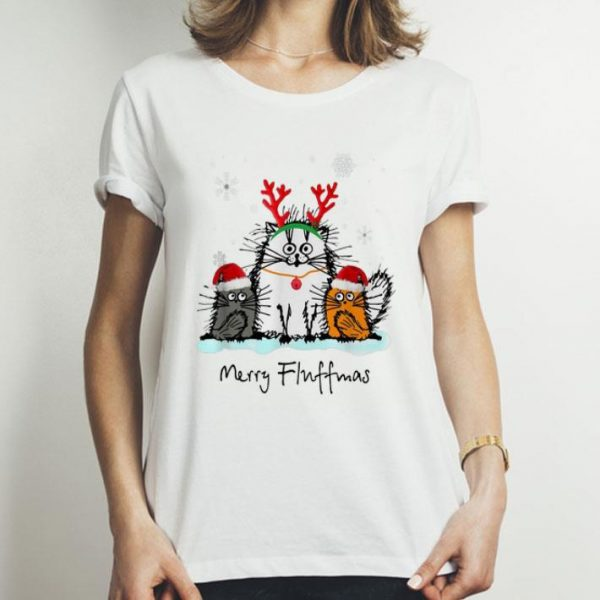 Merry Christmas Merry Fluffmas Cat Lover shirt