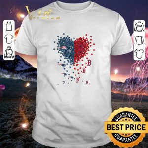 Nice I love New England Patriots Boston Red Sox shirt