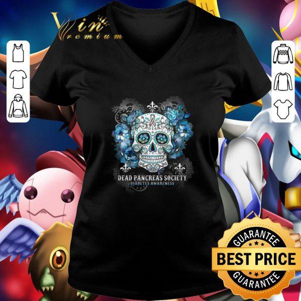 Nice Skull Dead Pancreas Society Diabetes Awareness shirt
