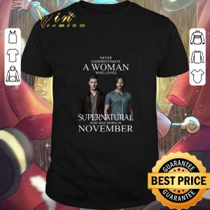 Official Never underestimate a woman who loves Supernatural november shirt