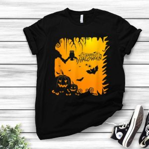 Owl Bat Pumpkin Happy Halloween shirt