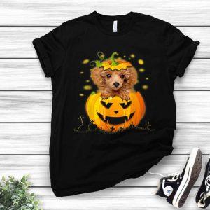 Poodle Dog Pumpkin Halloween Witch shirt