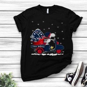 Snoopy Driving Vespas I Love Patrios New England Patriots shirt
