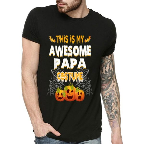 This Is My Awesome Papa Costume Pumpkin Halloween Costume shirt