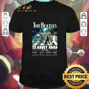 Top The Beatles 50 years Abbey Road 1969-2019 Signatures shirt