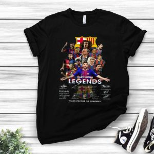 Barcelona Legends Thank You For The Memories Signatures shirt
