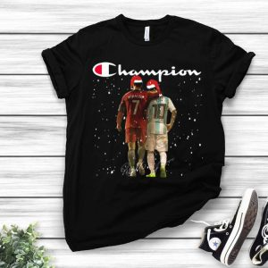 Champion Santa Ronaldo And Messi Signatures Christmas shirt