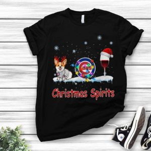 Chicago Cubs Corgi Wine Christmas Spirit shirt