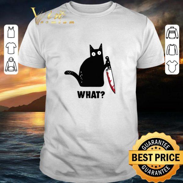 Cool Black cat knife Michael Myers shirt