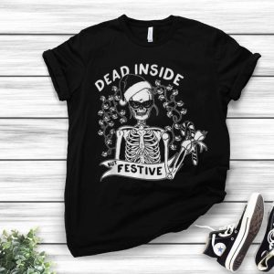 Dead Inside But Festive Christmas Skeleton Santa shirt
