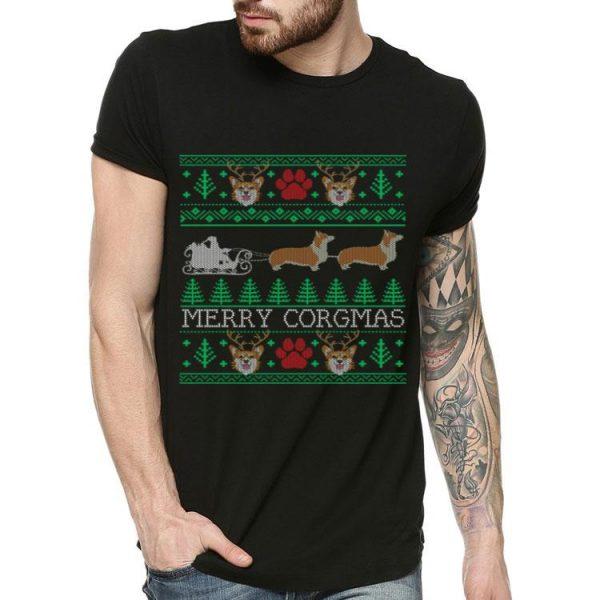Dog Lovers Corgi Merry Corgmas Ugly Christmas shirt
