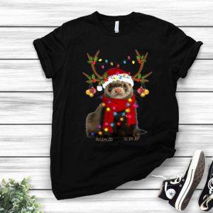 Ferret Gorgeous Reindeer Merry Christmas shirt