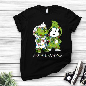Friends Grinch And Snoopy Christmas Light shirt