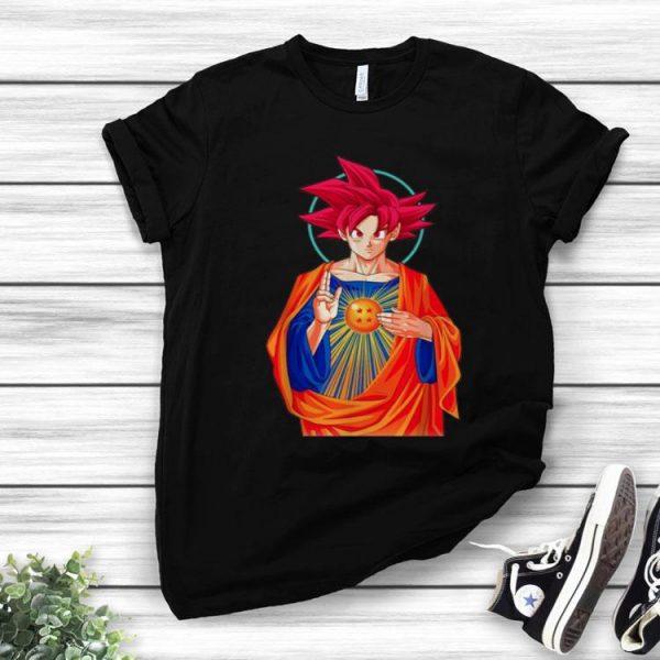 Goku Super Saiyan God Jesus Christ shirt