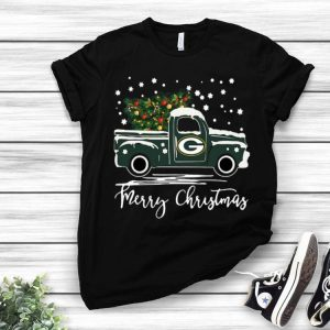 Green Bay Packers Truck Merry Christmas shirt